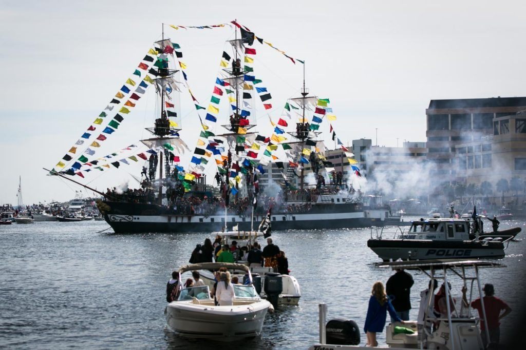 The Jose Gasparilla arrives in Tampa Bay, by NYC photojouralist, Kelly Williams