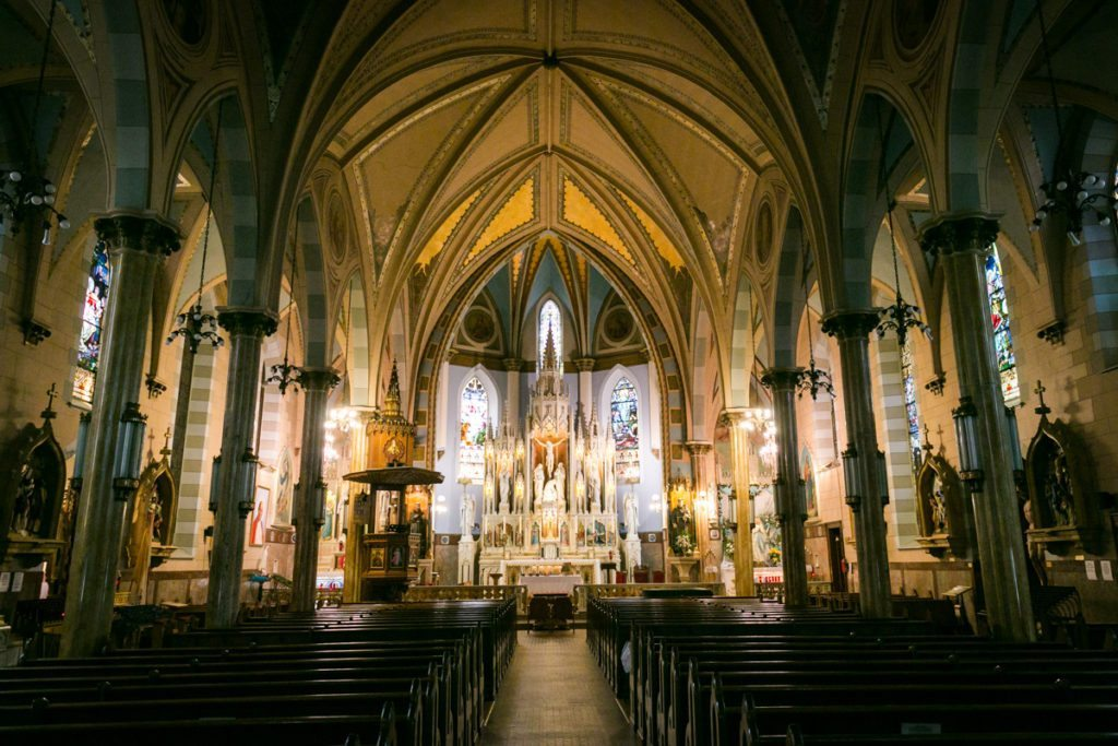 Photo of St. Anthony of Padua Church in Jersey City to accompany an article on venue checks by Hoboken wedding photographer, Kelly Williams
