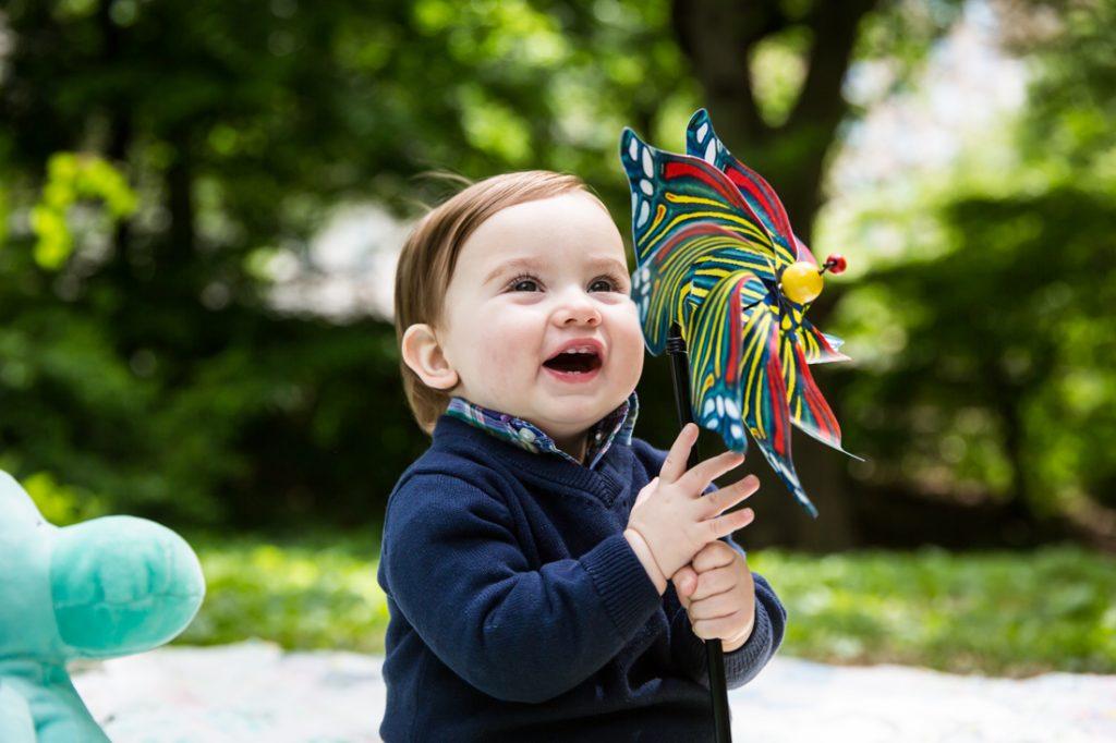 First birthday portrait in Central Park