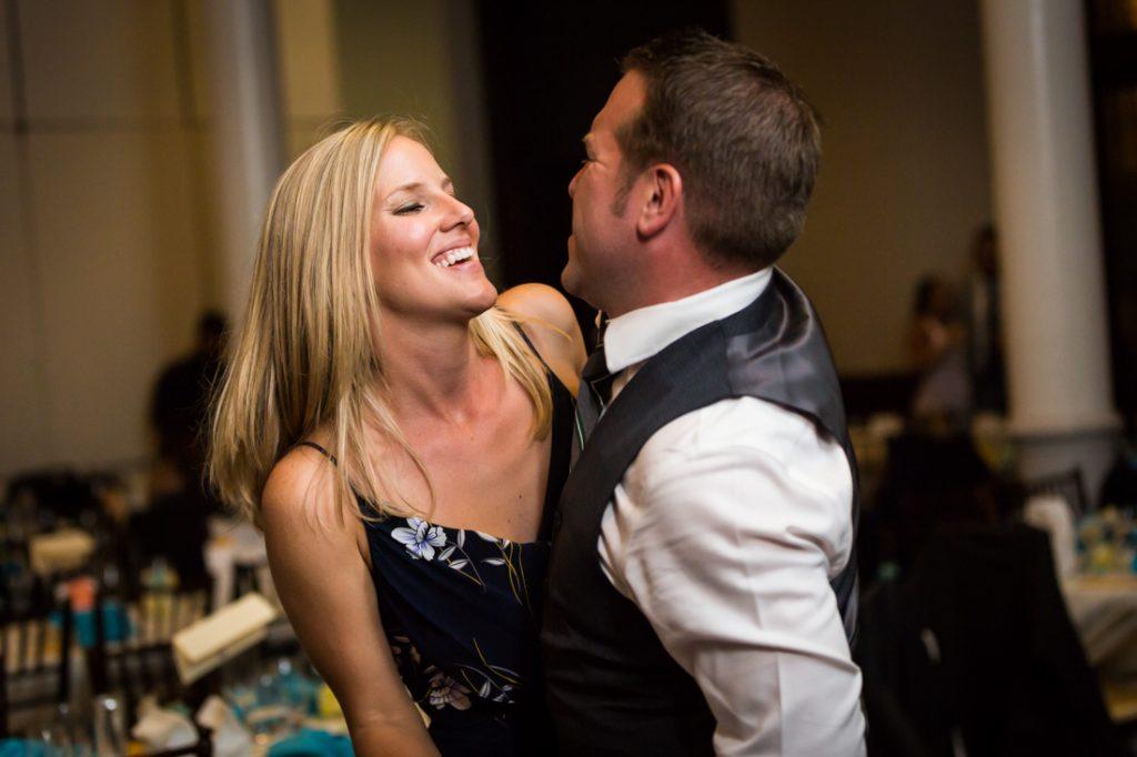 Guests dancing at a Brooklyn Historical Society wedding reception