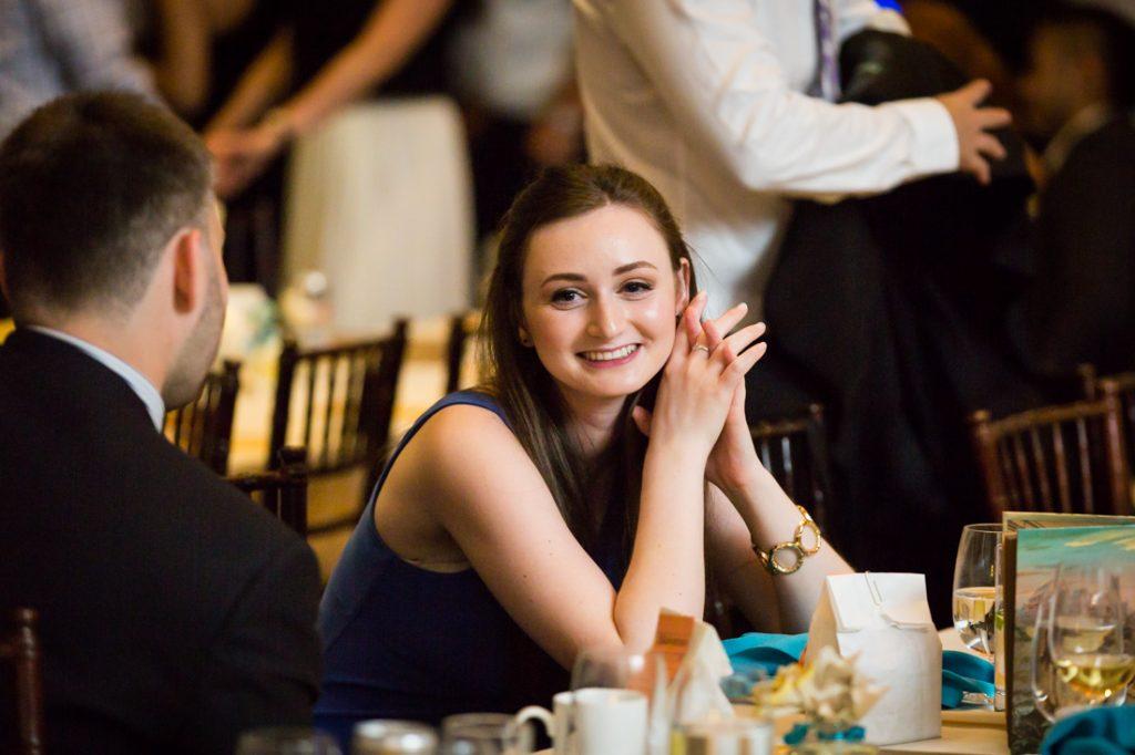 Guest at a Brooklyn Historical Society wedding reception