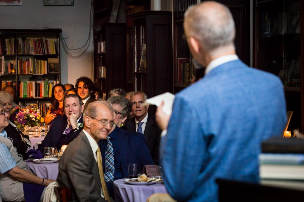 Speeches at a Housing Works Bookstore Cafe wedding