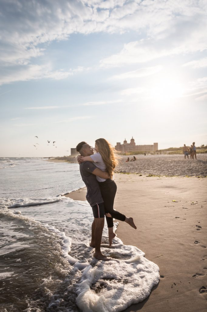 Long Beach engagement photos for an article on beach engagement tips