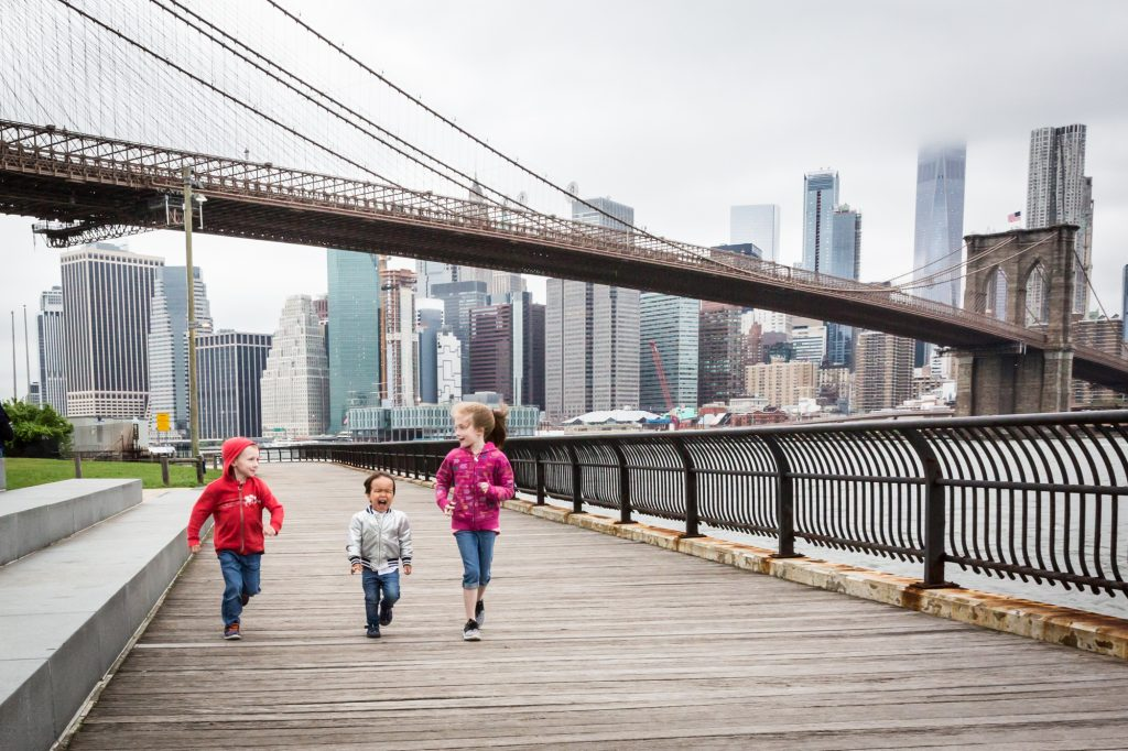 Brooklyn Bridge Park family portrait