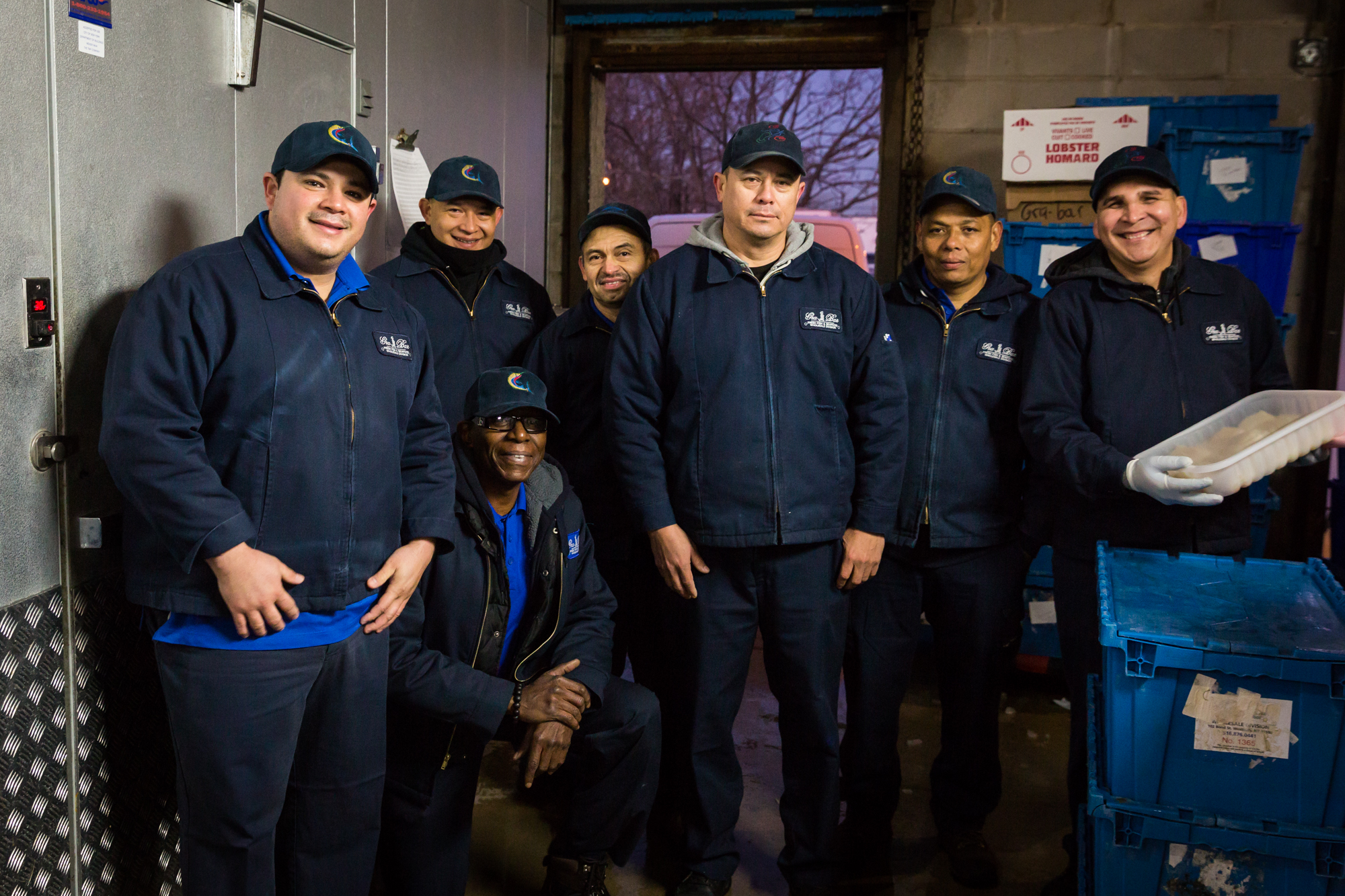 Group photo of workers for an article on website photography tips