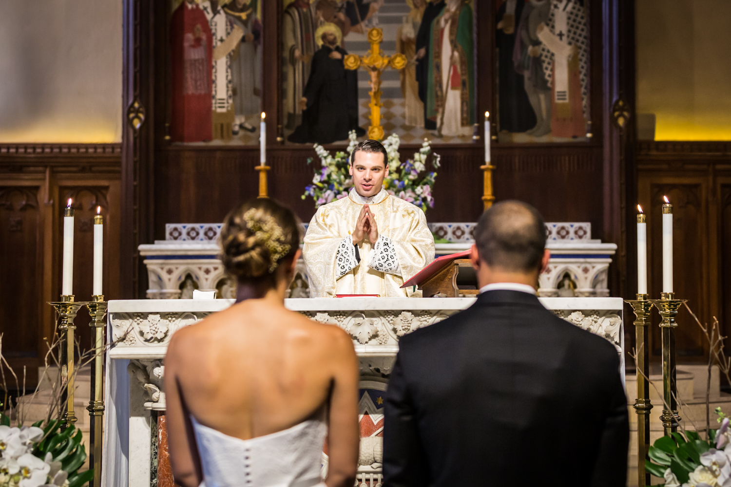 Fordham University Church wedding ceremony for an article on Bronx Zoo wedding venue updates