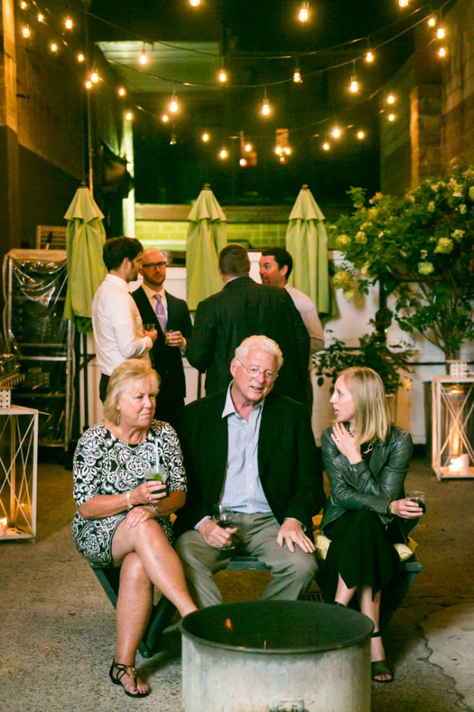 Guests enjoying reception at an Atelier Roquette wedding