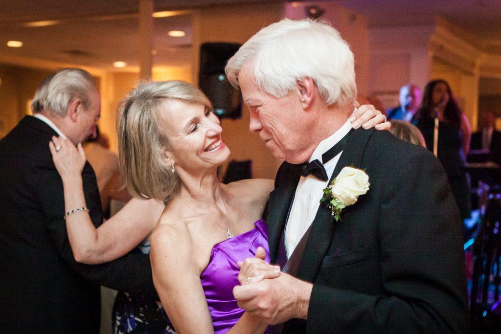 Older couple dancing at a Davenport Mansion wedding