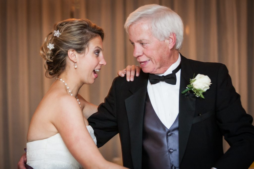 Bride and father dancing at a Davenport Mansion wedding