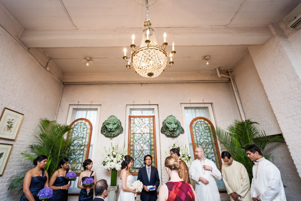 Ceremony at an Alger House wedding