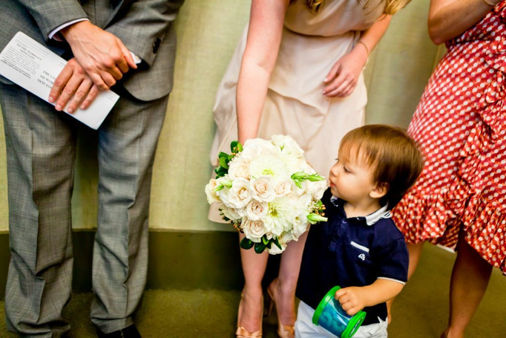 Moments before the ceremony, by NYC City Hall wedding photographer, Kelly Williams