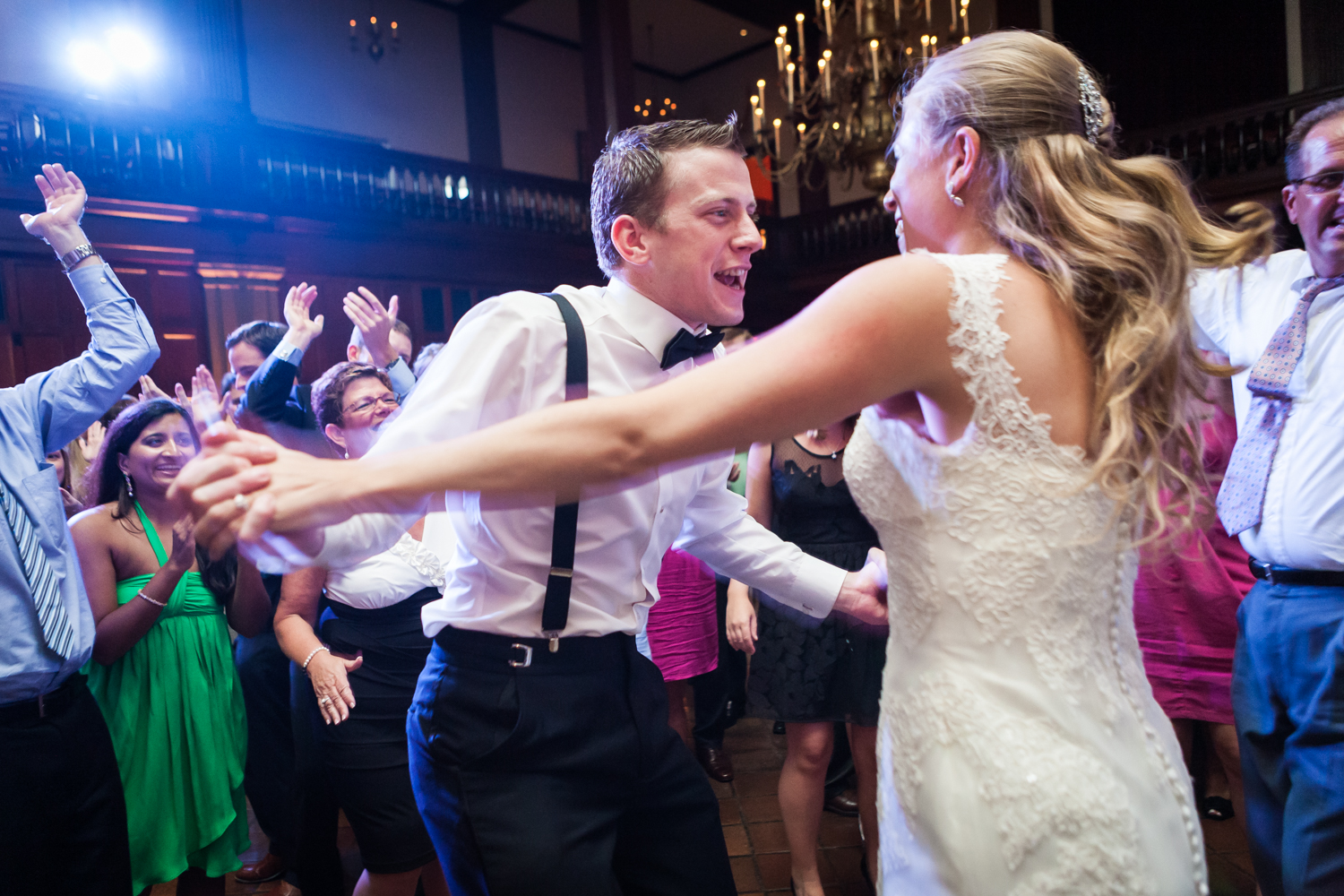 Guest dancing with bride at a Harvard Club NYC wedding