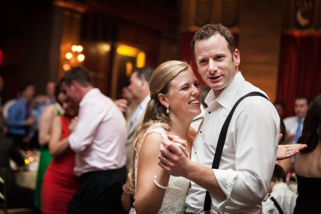 Bride and groom dancing at a Harvard Club NYC wedding