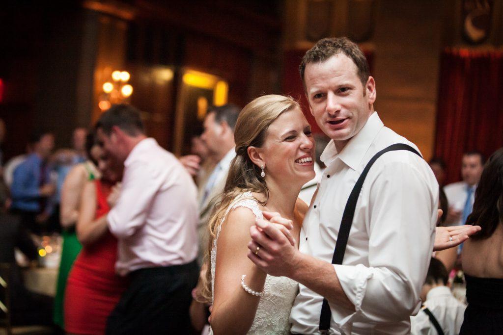 Bride and groom dancing at a Harvard Club NYC wedding