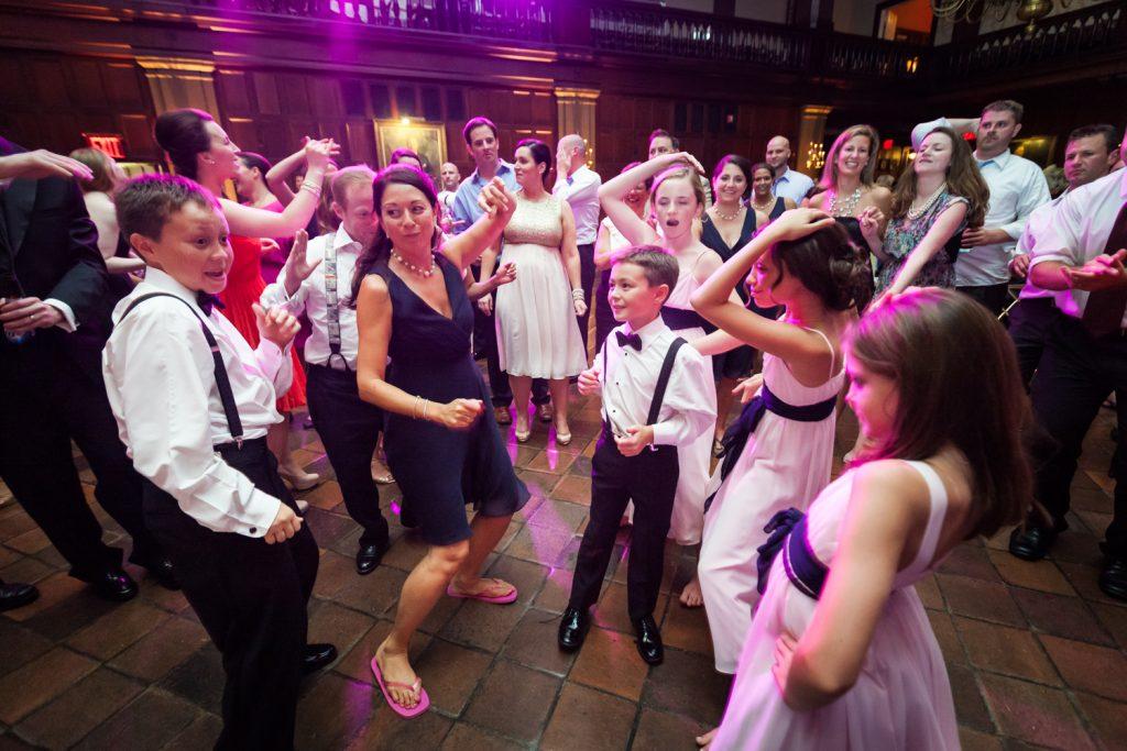 Guests dancing at a Harvard Club NYC wedding