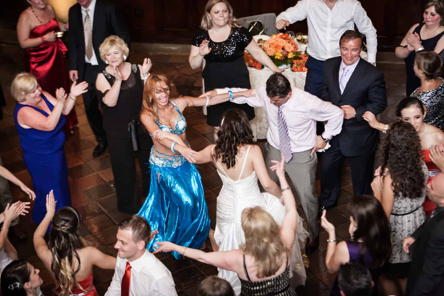 Guests dancing at a Harvard Club wedding