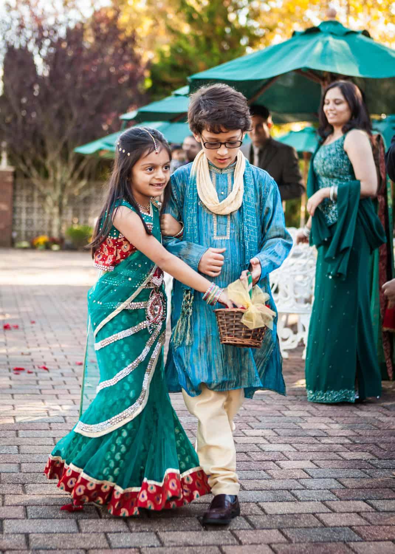 Boy and little flower girl at an East Wind Inn wedding