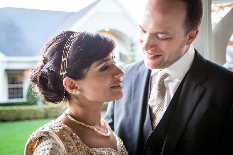 Bride and groom at an East Wind Inn wedding