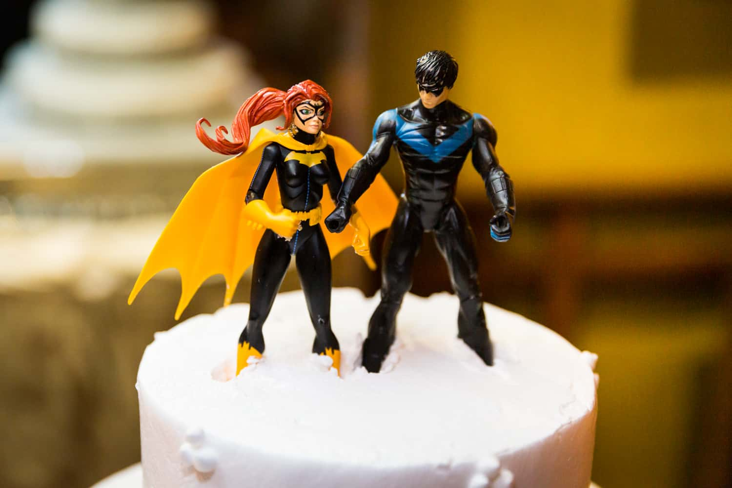 Batman and Robin wedding cake toppers