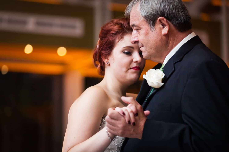 Nicotra's Ballroom wedding photos of bride dancing with father