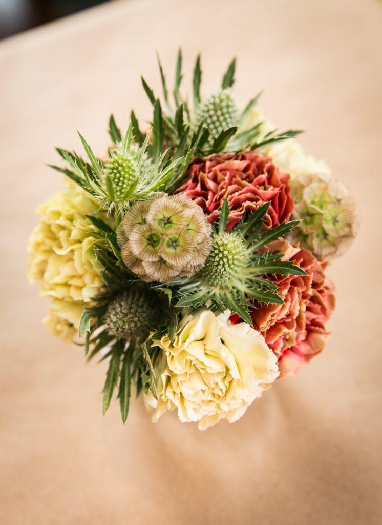 Close up of flower centerpiece at Astoria wedding reception