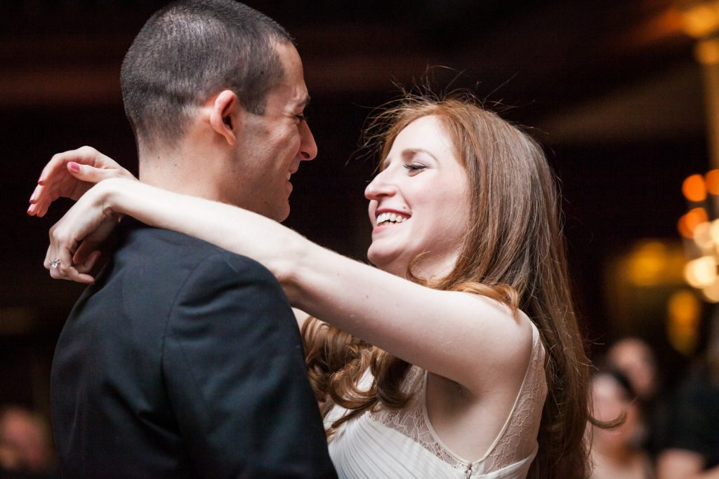 Harvard Club wedding photos of bride and groom during first dance