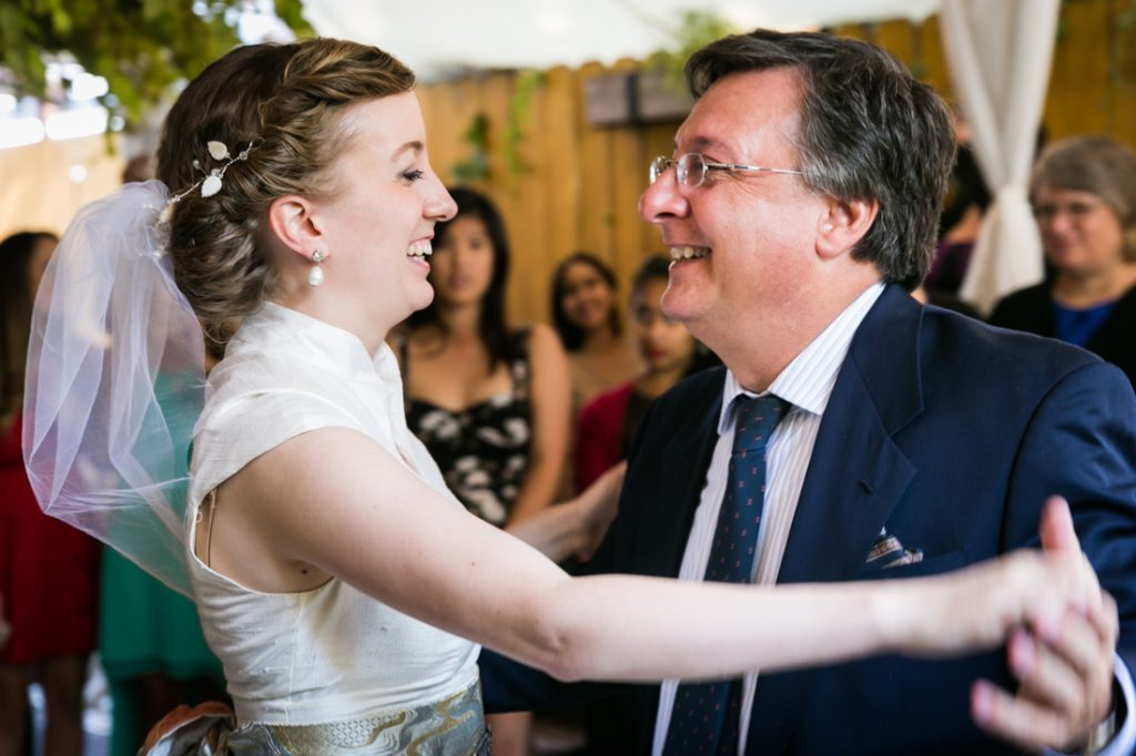 Bride dancing with father during Farm on Adderley wedding reception