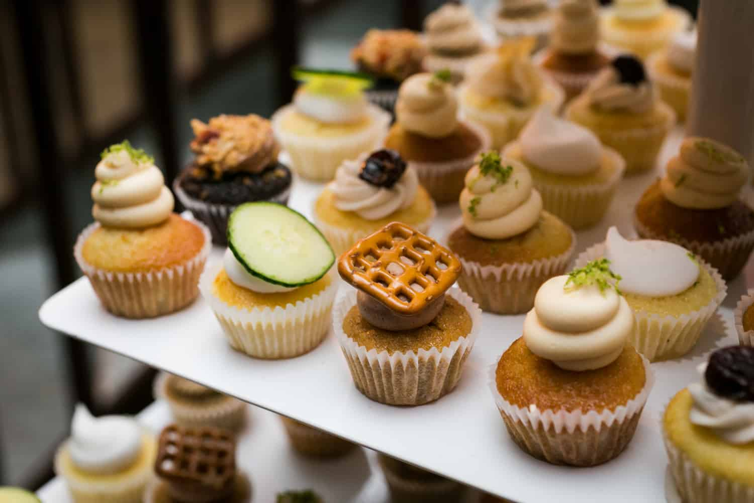 Close up on mini cupcakes from Prohibition Bakery