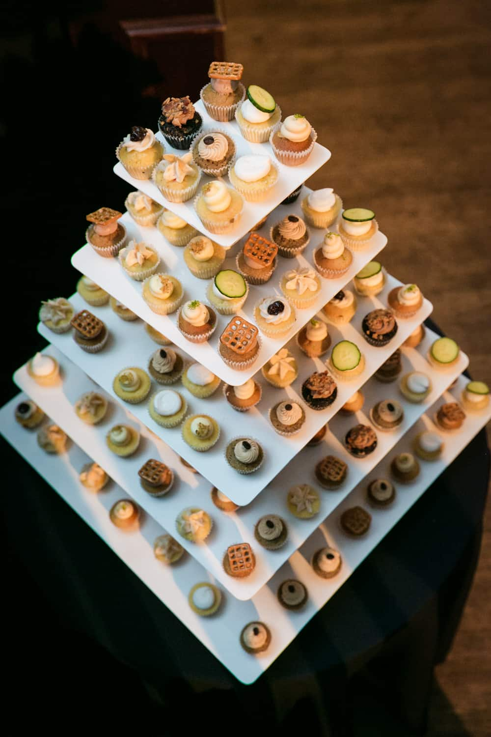 Tower of cupcakes from Prohibition Bakery