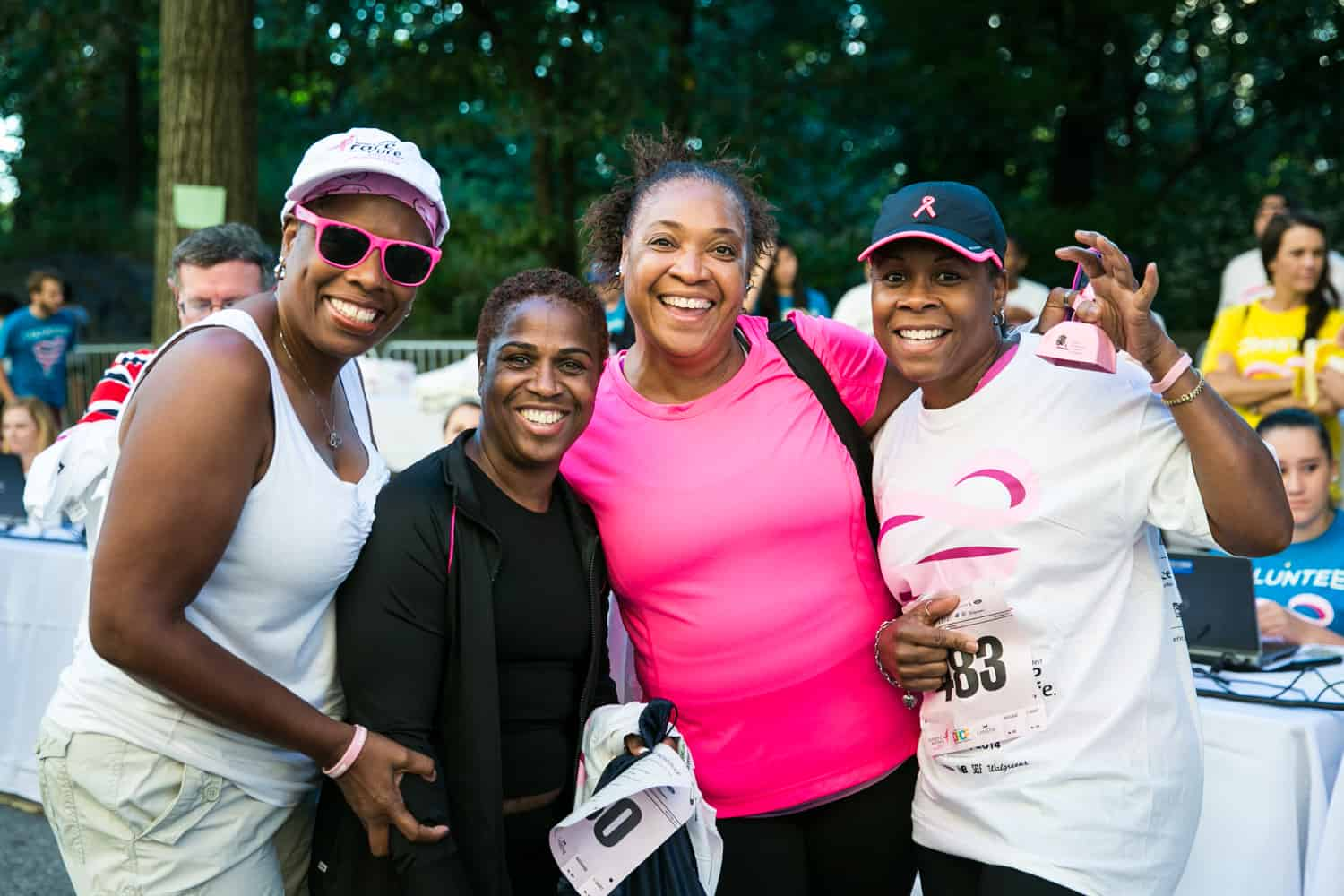 NYC Race for the Cure photos of group of African American female runners