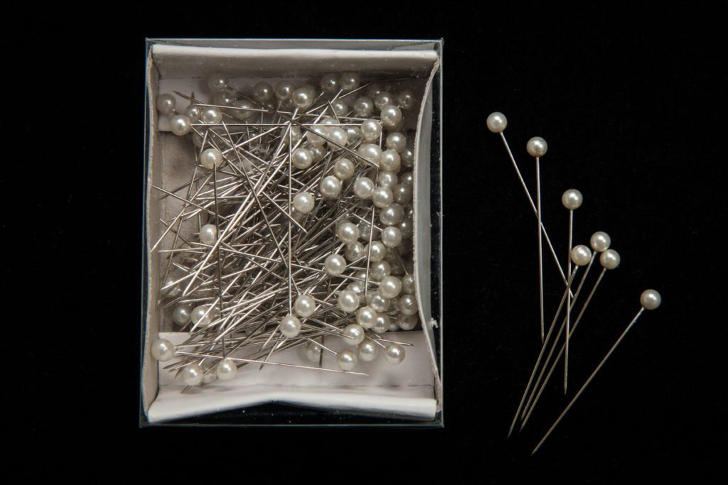 Boutonniere pins for the emergency kit of photographer Kelly Williams