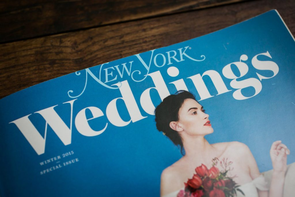 The cover of New York Magazine Weddings by NYC wedding photojournalist, Kelly Williams