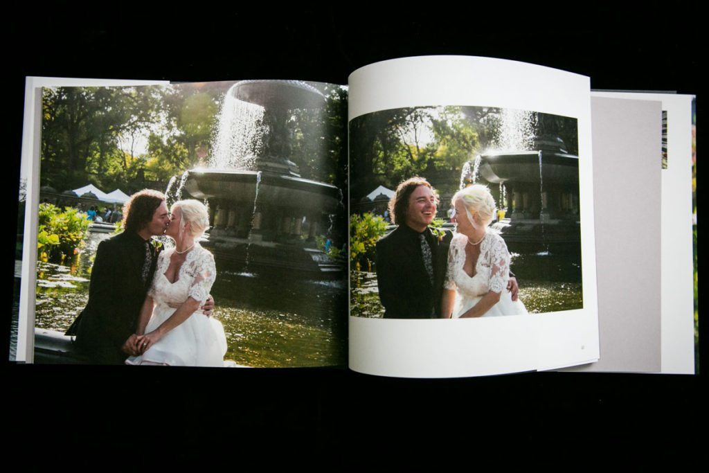 Photo book created by NYC wedding photographer, Kelly Williams