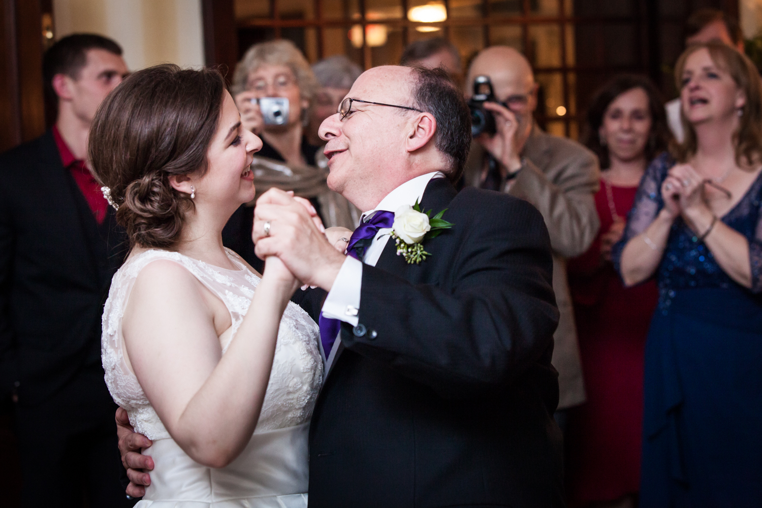 Bride dancing with father at a Nassau Inn wedding