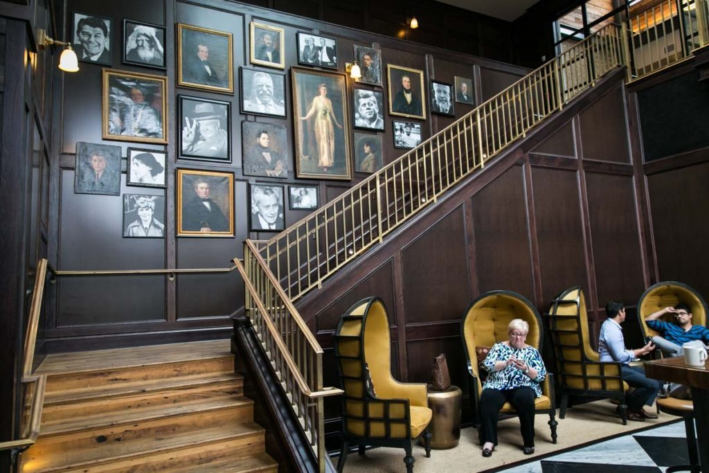 The portrait staircase