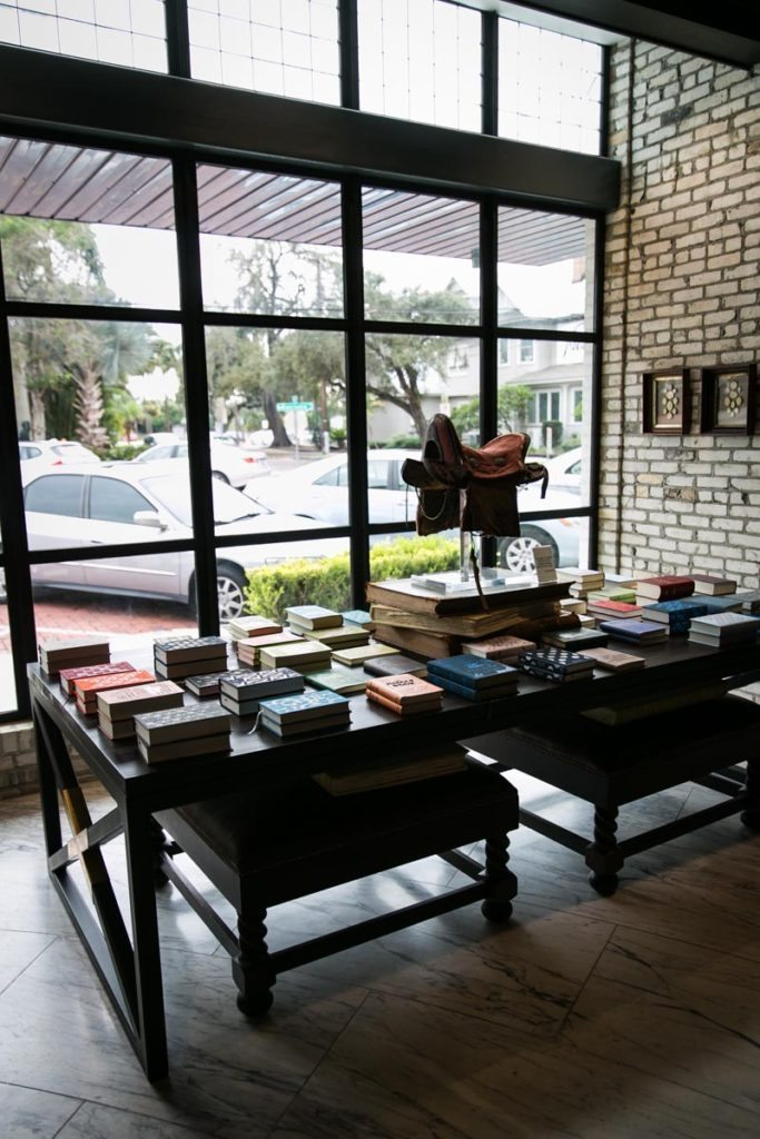 Books on display in the front entrance