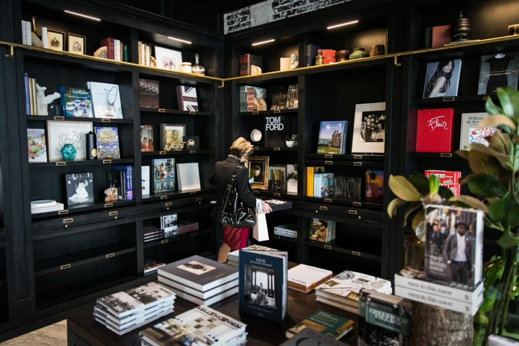The bookstore at the Oxford Exchange in Tampa, Florida