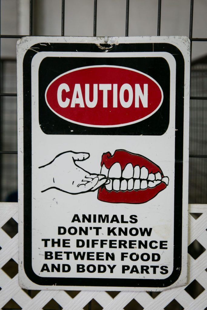 A sign at the Florida State Fair, photographed by NYC photojournalist, Kelly Williams.
