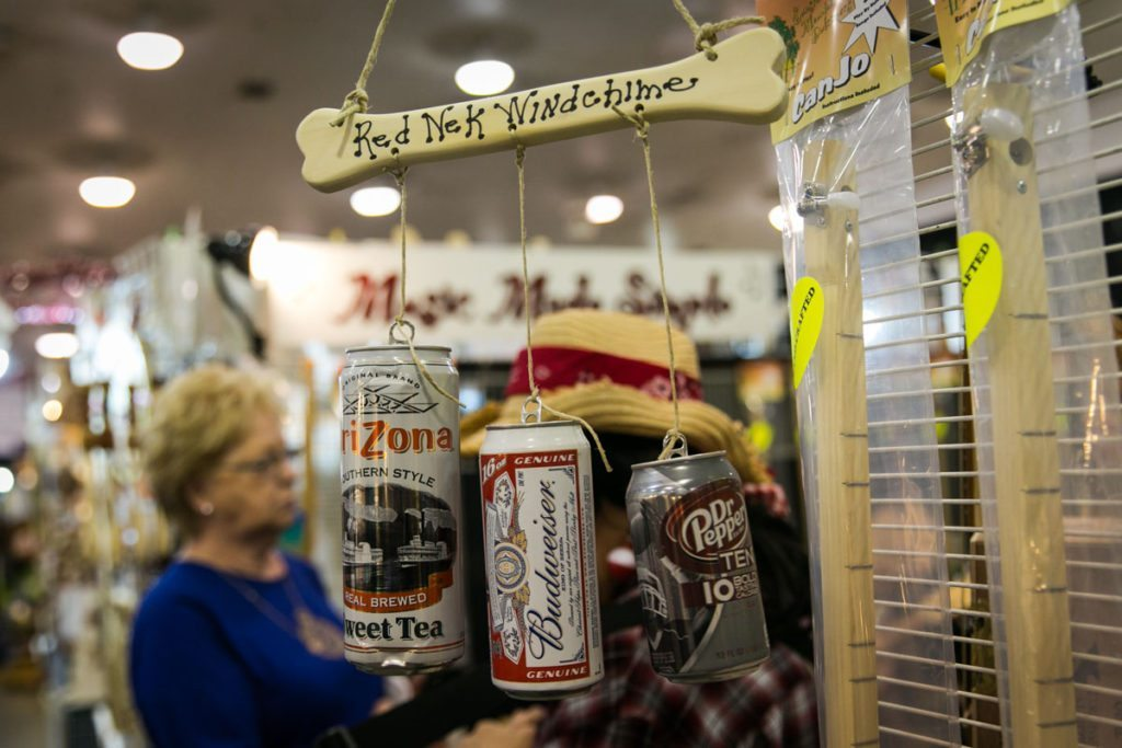 A redneck wind chime on sale at the Florida State Fair, photographed by NYC photojournalist, Kelly Williams