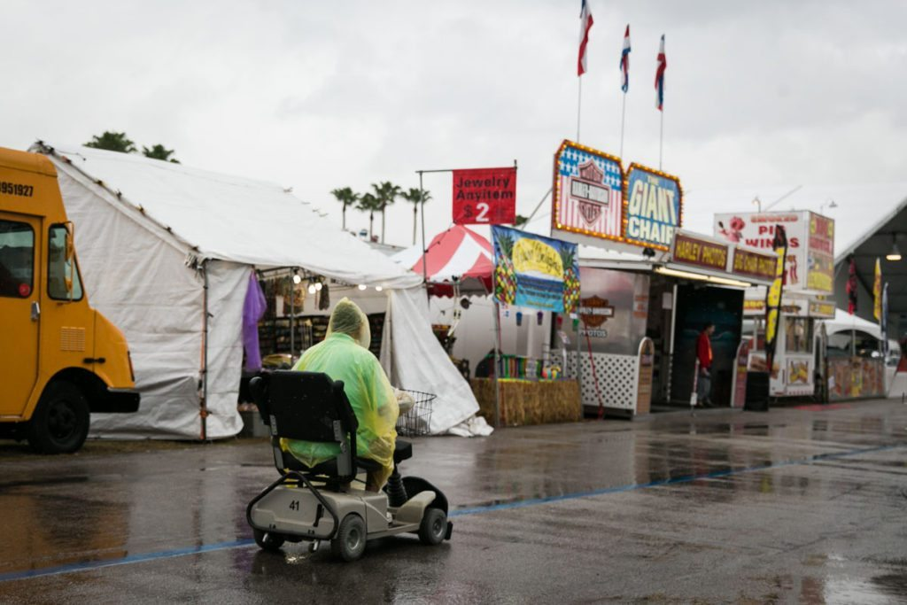 A rainy day at the Florida State Fair, photographed by NYC photojournalist, Kelly Williams