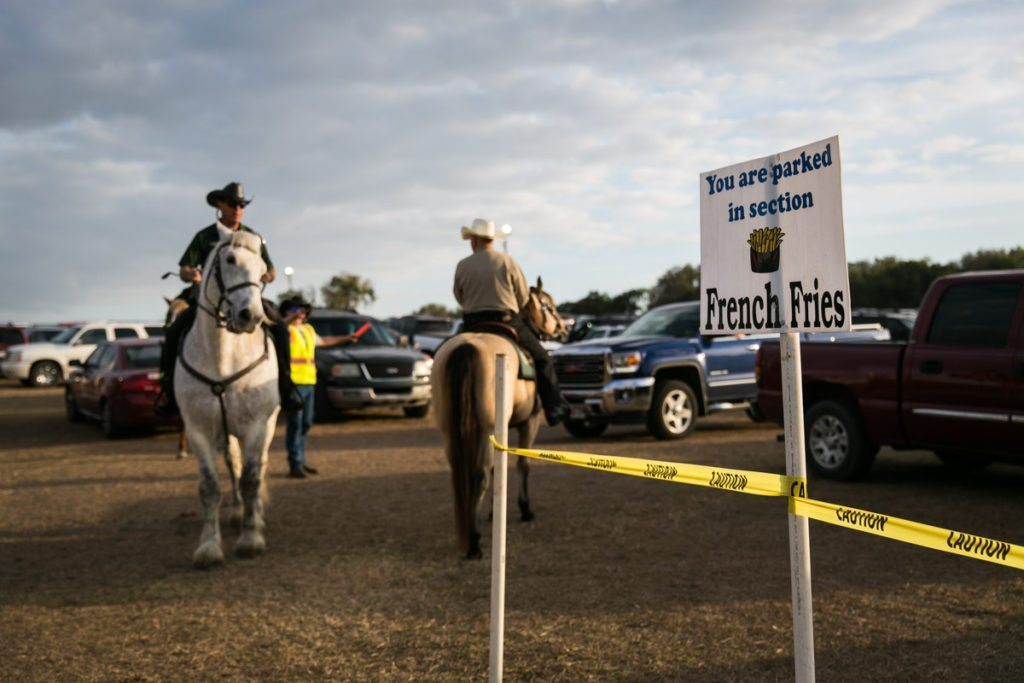 The parking lot at the county fair, by NYC photojournalist, Kelly Williams