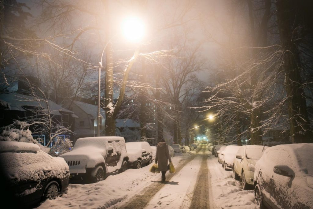 Snow in New York City by NYC photojournalist, Kelly Williams