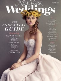 Cover of the Summer 2015 issue of New York Weddings