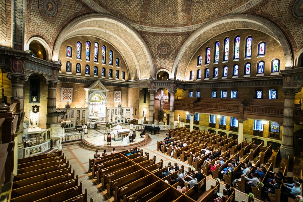 Interior of the Holy Trinity Church in NYC