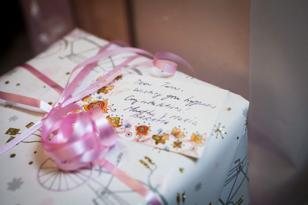 Gifts for the bridal shower by Bay Ridge bridal shower photographer, Kelly Williams
