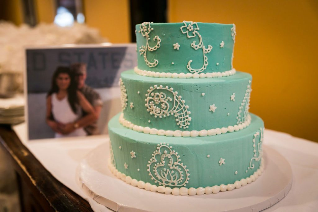 A bridal shower cake by Bay Ridge wedding photographer, Kelly Williams