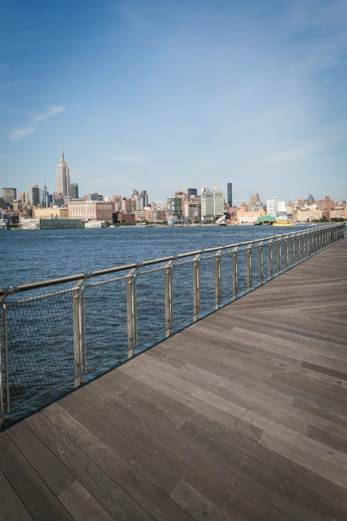 Photo of Pier C Park to accompany an article on venue checks by Hoboken wedding photographer, Kelly Williams