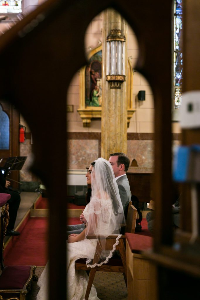 Wedding ceremony at St. Anthony of Padua in Jersey City, by Hoboken wedding photojournalist, Kelly Williams