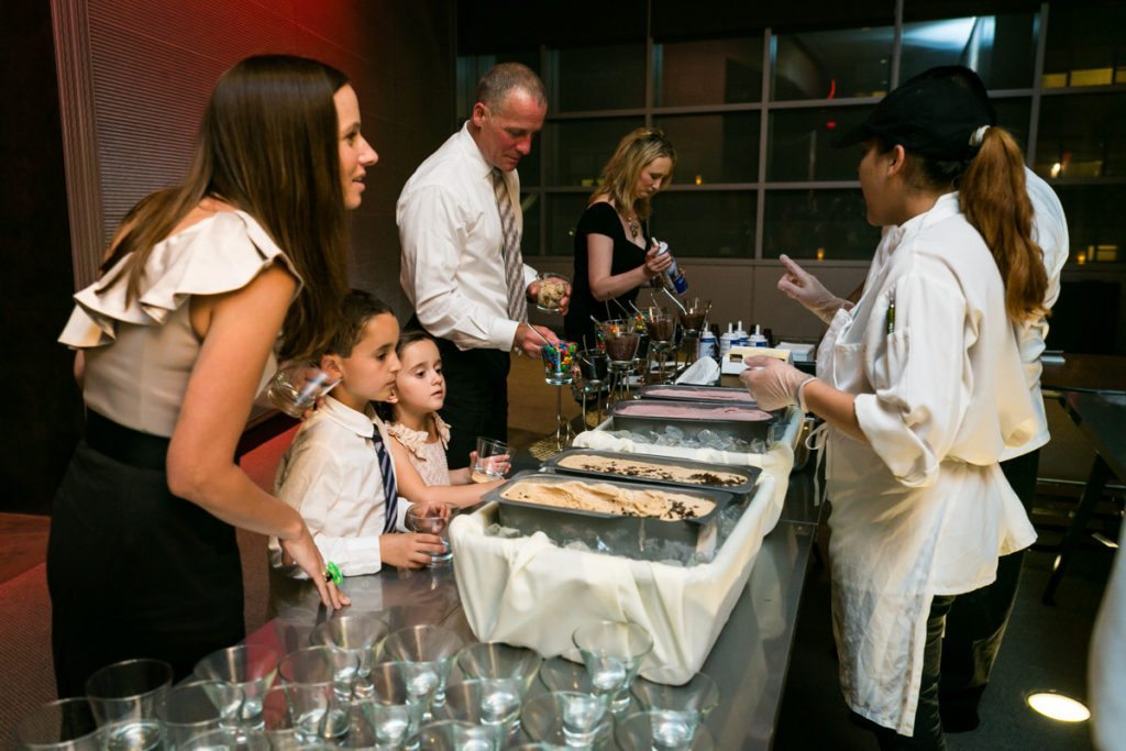 Ice cream bar candid by Hoboken wedding photojournalist, Kelly Williams