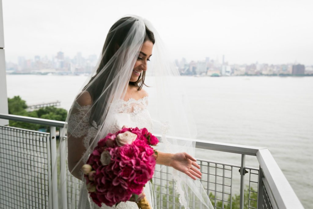 Bridal portrait by Hoboken wedding photographer, Kelly Williams